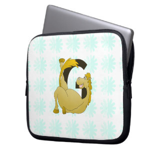 Cute Cartoon Monogram Pony G Laptop Sleeve