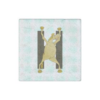Cute Cartoon Monogram Pony H Stone Magnet