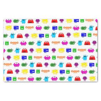"Cute Cartoon Monsters 10"" X 15"" Tissue Paper"