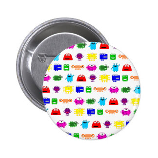 Cute Cartoon Monsters 2 Inch Round Button