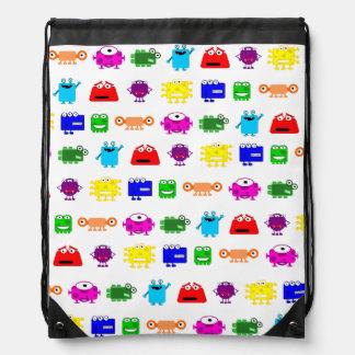 Cute Cartoon Monsters Drawstring Bag