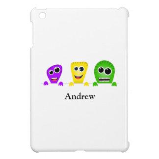 Cute cartoon monsters gang iPad mini case