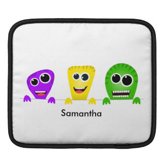 Cute cartoon monsters gang sleeve for iPads