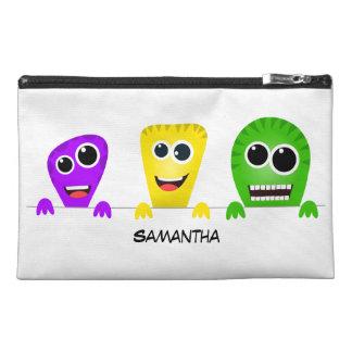 Cute cartoon monsters gang travel accessory bag