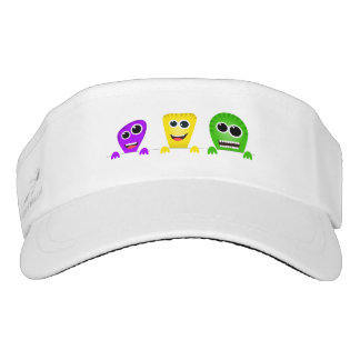 Cute cartoon monsters gang visor