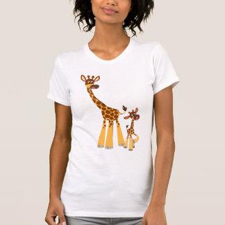 Cute Cartoon Mother Giraffe and Calf T-Shirt