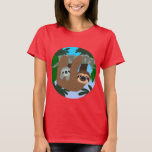 Cute Cartoon Mother Sloth And Baby Women T-Shirt