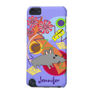 Cute Cartoon Mouse and Cheese iPod Touch 5G Cases