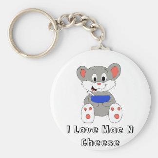 Cute Cartoon Mouse Basic Round Button Keychain