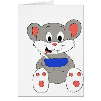 Cute Cartoon Mouse Card