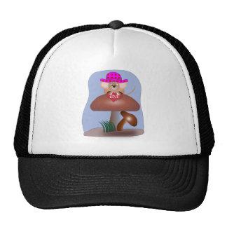Cute Cartoon Mouse on a Mushroom Trucker Hat