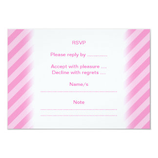 Cute Cartoon Mouse on Pink Stripes. Card