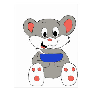 Cute Cartoon Mouse Postcard