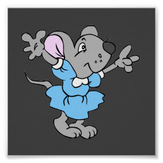 Cute Cartoon Mouse Poster