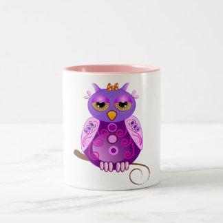 Cute Cartoon mug with decorative girly Owl