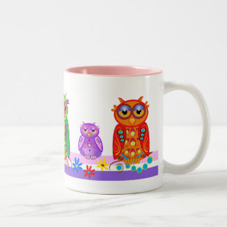 Cute cartoon mug with Owls