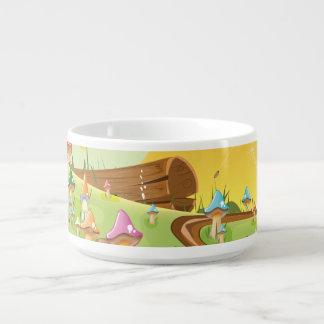 Cute cartoon mushroom field bowl