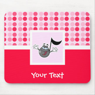Cute Cartoon Music Note Mouse Pad