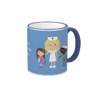 Cute Cartoon Nurse Children Ringer Mug
