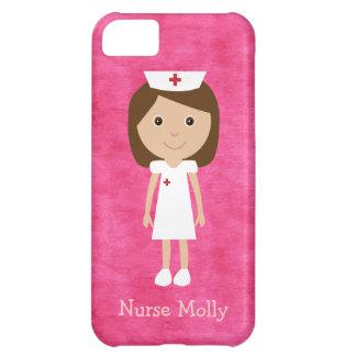 Cute Cartoon Nurse Pink Cover For iPhone 5C