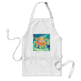 Cute Cartoon Octopus Adult Apron