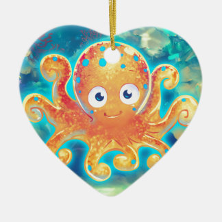 Cute Cartoon Octopus Ceramic Ornament