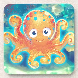 Cute Cartoon Octopus Coaster