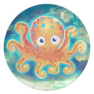 Cute Cartoon Octopus Plate