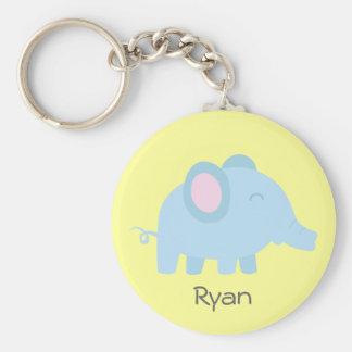 Cute cartoon of baby blue elephant key chain