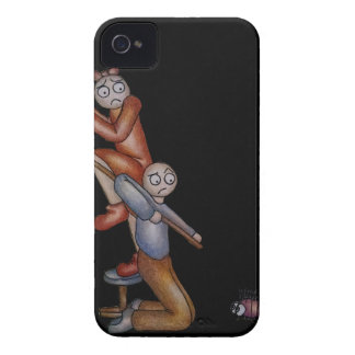 Cute Cartoon of Boy Attacking Bug with Mop Case-Mate iPhone 4 Case