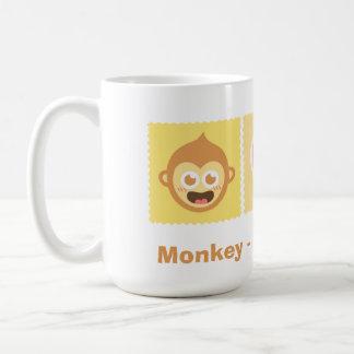 Cute Cartoon of Monkey - Love - Banana Coffee Mug
