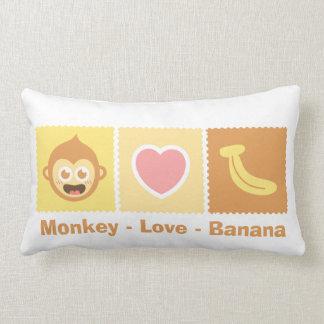 Cute Cartoon of Monkey - Love - Banana Pillow