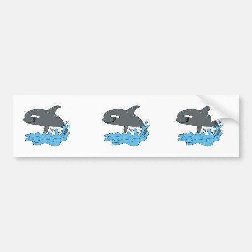 cute cartoon orca killer whale bumper stickers