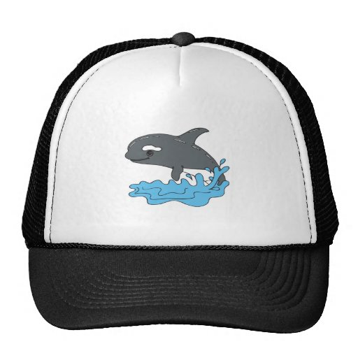 cute cartoon orca killer whale mesh hat