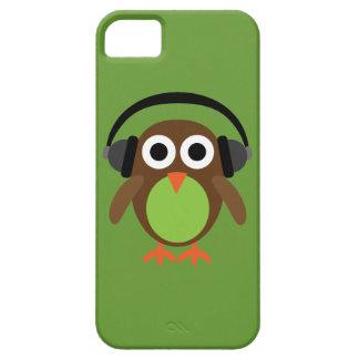 Cute Cartoon Owl DJ With Headphones iPhone SE/5/5s Case