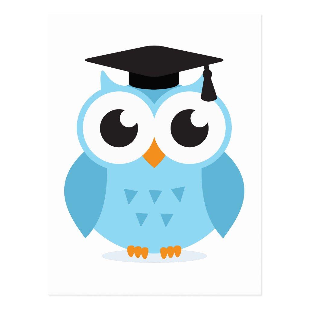Graduation Hat Cartoon Cute Cartoon Owl Graduate With