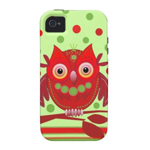 Cute cartoon Owl iPhone 4 Case-Mate Tough