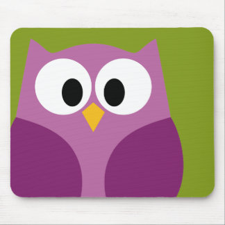 Cute Cartoon Owl Mouse Pad
