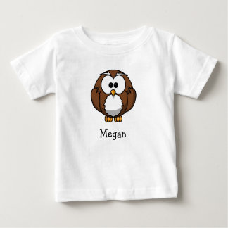 Cute cartoon owl personalized with childs name baby T-Shirt