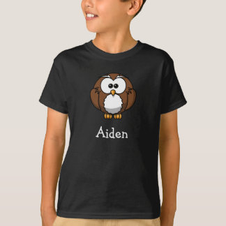 Cute cartoon owl personalized with childs name T-Shirt