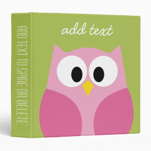 personalize your own owl template binder stay organized today