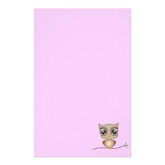 Cute Cartoon Owl Stationery