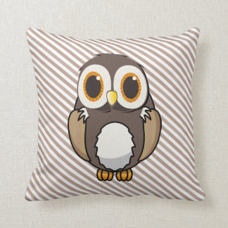 Cute Cartoon Owl Throw Pillow