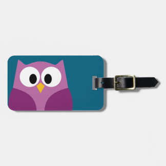 Cute Cartoon Owl with Address and Phone Number Bag Tag
