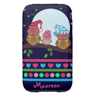 Cute cartoon Owls iPhone 3G/3GS Case-Mate Tough iPhone 3 Tough Case