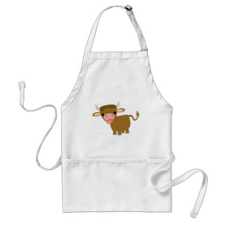 Cute Cartoon Ox coocking apron