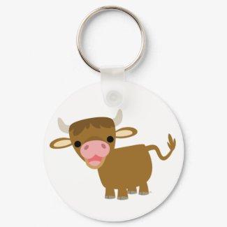 Cute Cartoon Ox keychain keychain