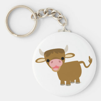 Cute Cartoon Ox keychain