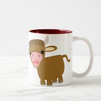 Cute Cartoon Ox mug mug