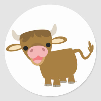 Cute Cartoon Ox sticker